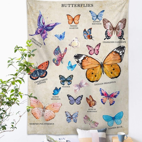 Other - Butterfly Tapestry Wall Hanging